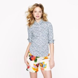J. Crew Liberty London Phoebe Floral Popover Shirt